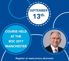 Manchester Course With Dr Chris Chang at the BOC
